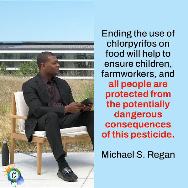 Ending the use of chlorpyrifos on food will help to ensure children, farmworkers, and all people are protected from the potentially dangerous consequences of this pesticide. — Michael S. Regan, EPA Administrator