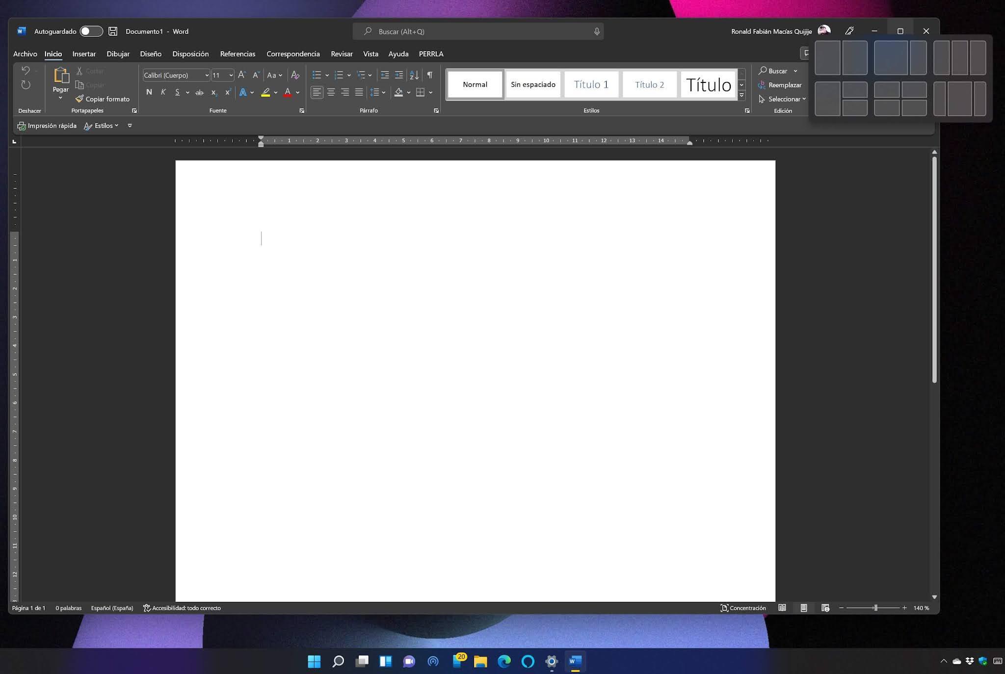 Snap Windows 11