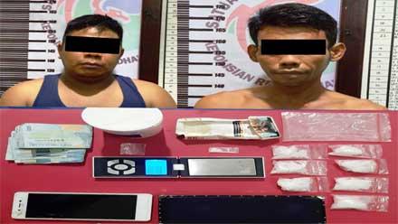 Dua Tersangka Narkoba beserta barang bukti