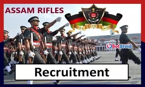 Assam Rifles Recruitment 2021, Apply Online for Assam Govt Jobs