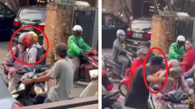 Viral Dua Pemotor Nyaris Baku Hantam, Langsung Kena Mental Gegara Aksi Pria Ini