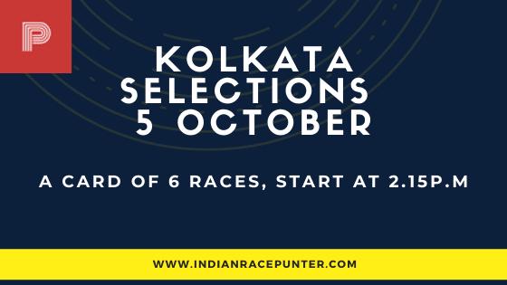 Kolkata Race Selections 5 October