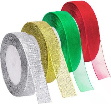 Glitter Sheer Organza Ribbons