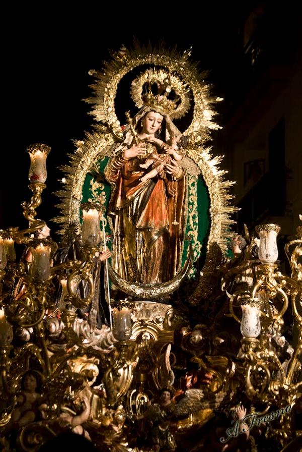 Horario e Itinerario Salida Procesional Nuestra Señora Reina de Todos los Santos. Sevilla 07 de Noviembre del 2021