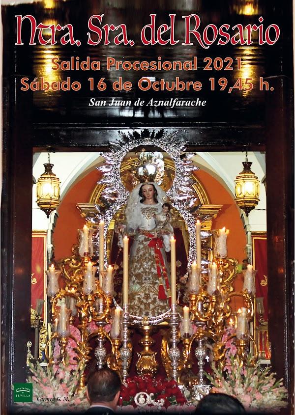Horario e Itinerario Procesión Virgen del Rosario. San juan de Aznalfarache (Sevilla) 16 de Octubre del 2021