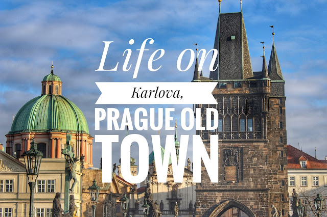 Pragie Czech republic old city life on Karlova