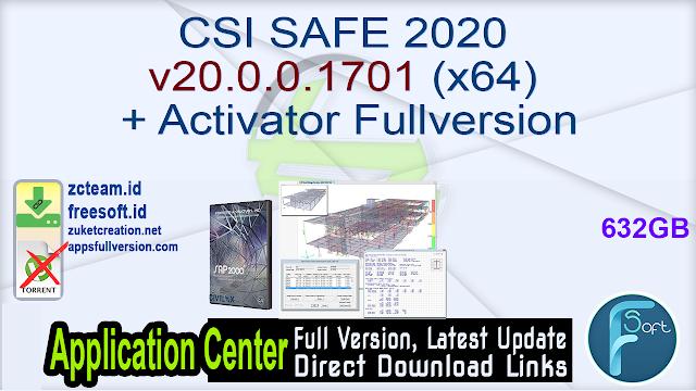 CSI SAFE 2020 v20.0.0.1701 (x64) + Activator Fullversion