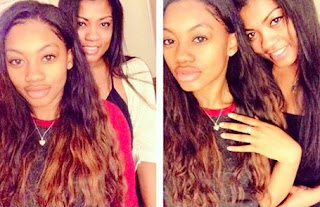 Alysia Rogers clicking selfie with her daughter Cieana
