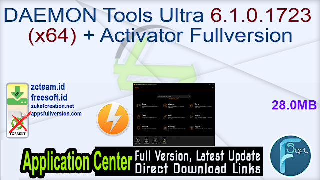 DAEMON Tools Ultra 6.1.0.1723 (x64) + Activator Fullversion