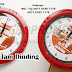 Souvenir Jam Dinding Bulat Kode 195H Custom Warna - Jam Dinding Promosi