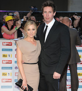 Joanne Froggatt with her ex-spouse James Cannon