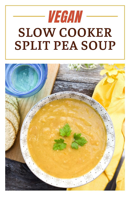 An easy vegan slow cooker split pea soup is a traditional Scottish recipe. It's tasty, comforting, and a very healthy option.