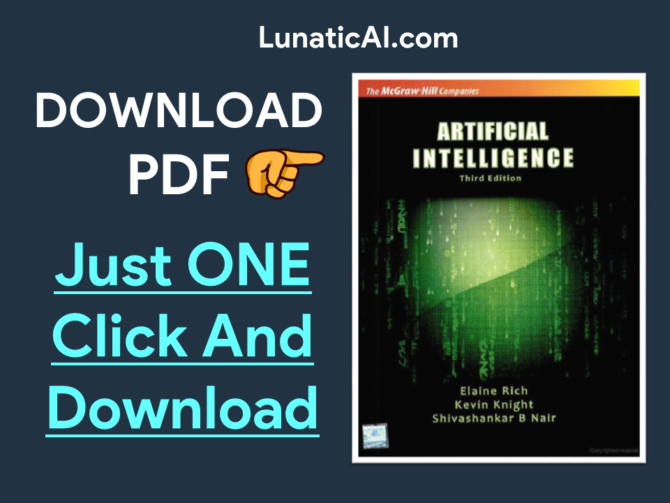 Artificial Intelligence by Elaine Rich and Kevin Knight PDF