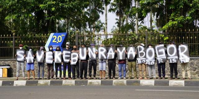 Tolak Komersialisasi, Kebun Raya Dikepung Demonstrasi
