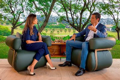 Patricia Abravanel e Roberto Campos Neto - (Foto: Divulgação/SBT)