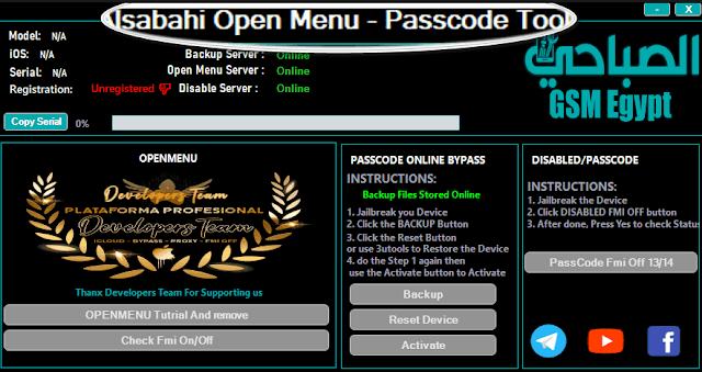AlsaBahi Passcode & Open Menu Tool 2.0 ICloud Bypass Tool