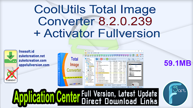 CoolUtils Total Image Converter 8.2.0.239 + Activator Fullversion