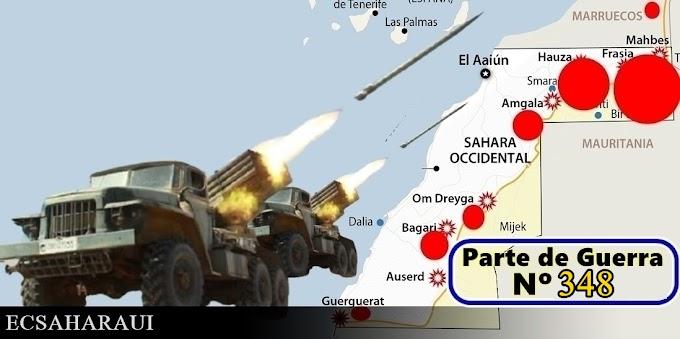 Parte de Guerra Nº 348. Guerra del Sáhara Occidental.