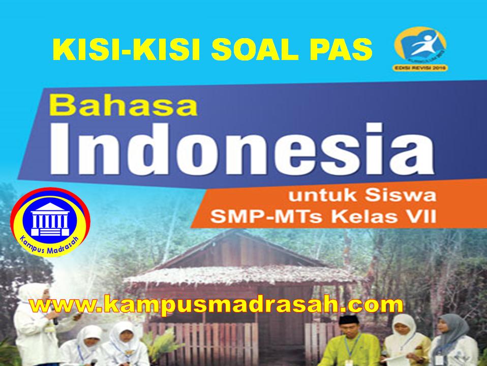 Kisi-kisi Soal PAS Bahasa Indonesia Kelas 7 SMP/MTs