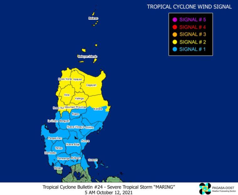 'Bagyong Maring' PAGASA signal