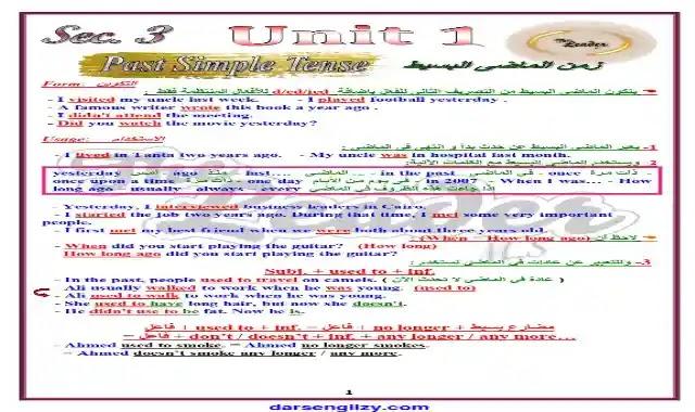 اجمل شرح على جرامر الوحدة الاولى لغة انجليزية للصف الثالث الثانوى 2022 اعداد مستر محمد صلاح