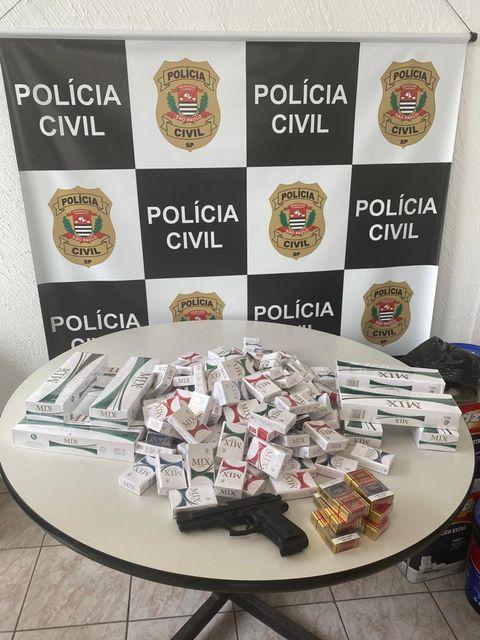Polícia Civil prende comerciante por contrabando de cigarros