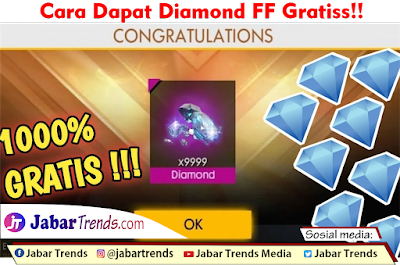 Cara Mendapatkan Diamond FF Gratis 2021