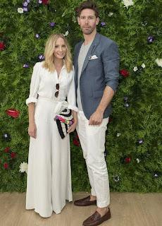 Joanne Froggatt with her former husband James Cannon