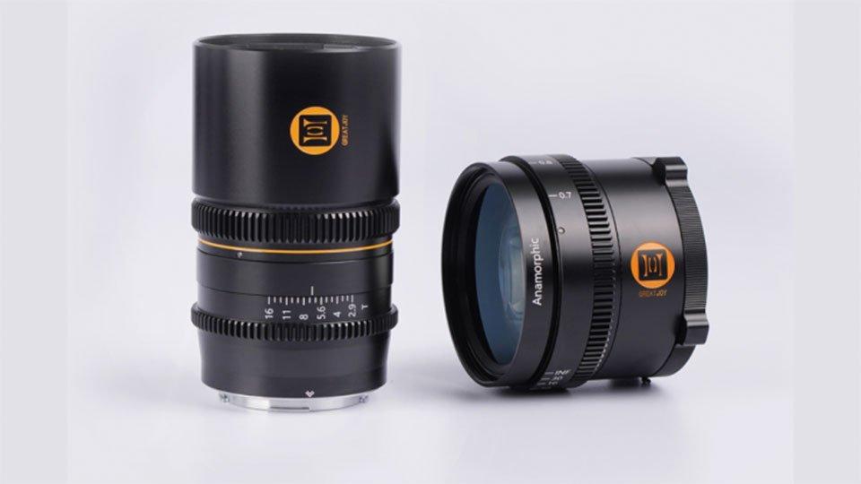 Анаморфотный объектив Great Joy 60mm T2.9 1.33x и анаморфотный адаптер Great Joy 1.35x