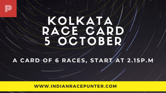 Kolkata Race Card 5 October