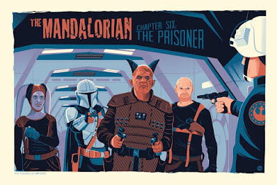New York Comic Con 2021 Exclusive The Mandalorian Chapter Screen Prints by Dave Perillo x Bottleneck Gallery x Star Wars