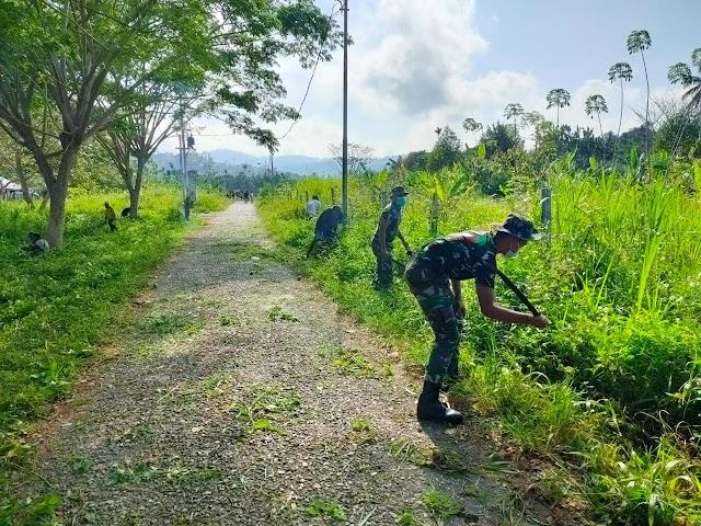 Karya Bhakti Yonif Mekanis 512/QY di Perbatasan Papua