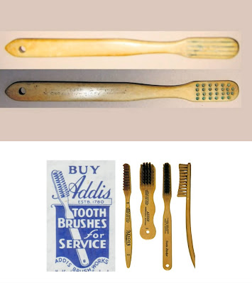 Addis the first mass-produced toothbrush