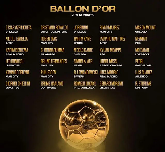 The list of 30 candidates for the 2021 Golden Ball award for men. Photo: DM