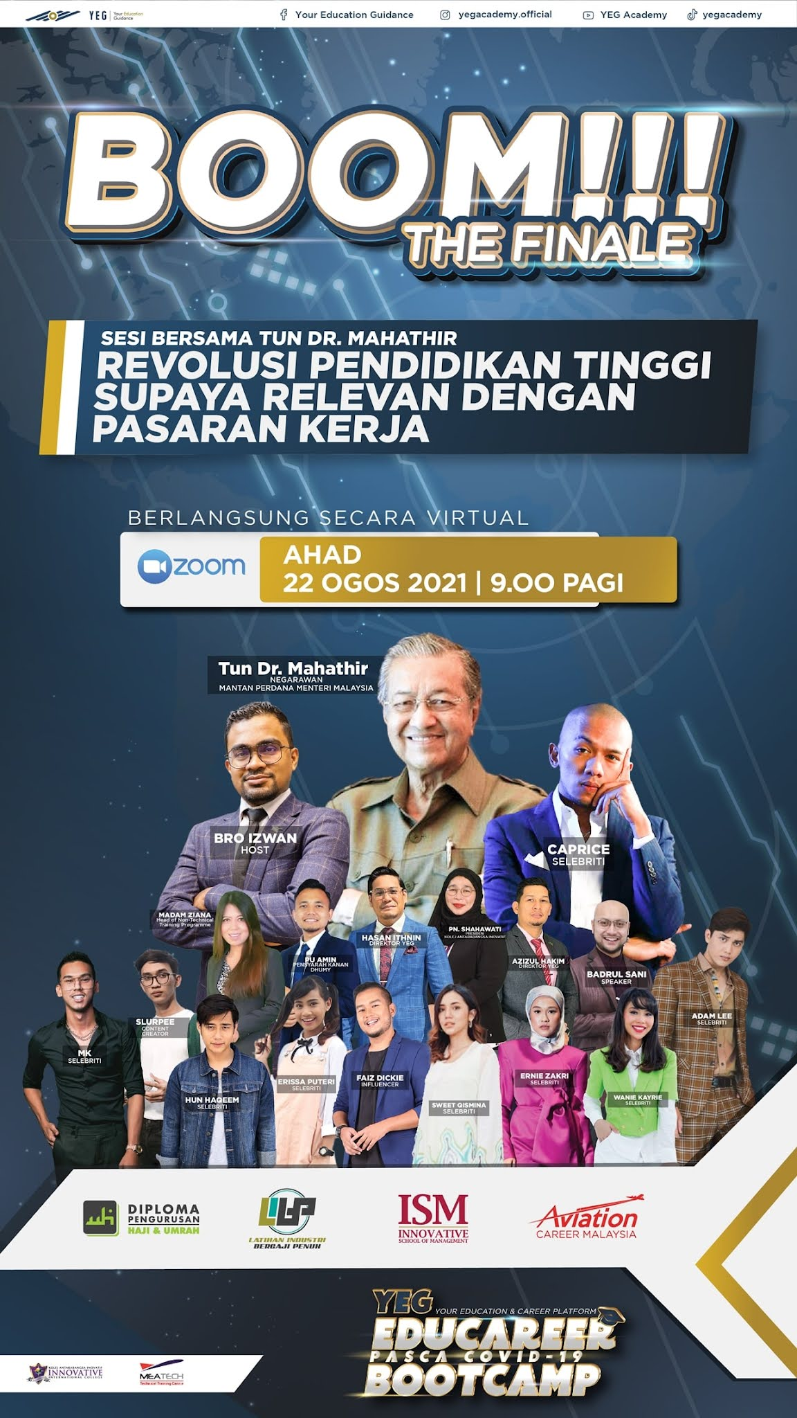 Tun Mahathir Beri Kupasan Eksklusif Kepada Bakal Graduan Di Platform YEG Academy