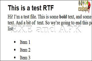 كيف اقوم بفتح ملف RTF ؟