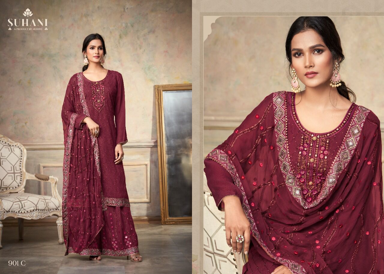 Mohini Fashion Suhani 901 Sharara Style Suits Catalog Lowest Price