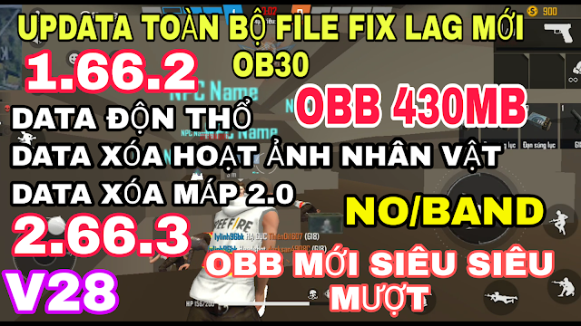 FIX LAG FREE FIRE THƯỜNG OB30 MỚI NHẤT CHO MÁY YẾU, SIÊU MƯỢT MINECRAFT V28 SAU CẬP NHẬT
