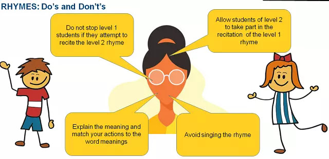 Teaching Rhymes in a Multi-level Classroom - do's and don'ts