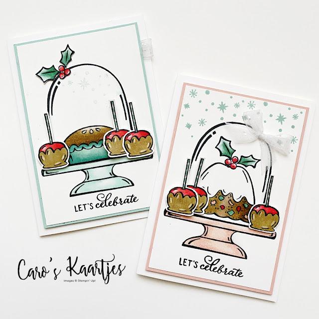Twee kaarten gemaakt met de Sweets & Treats stempelset - Stampin' Up! - 2021