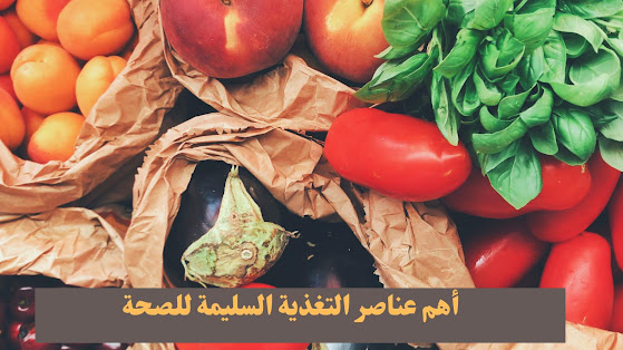 أهم عناصر التغذية السليمة للصحة  The most important elements of proper nutrition for health