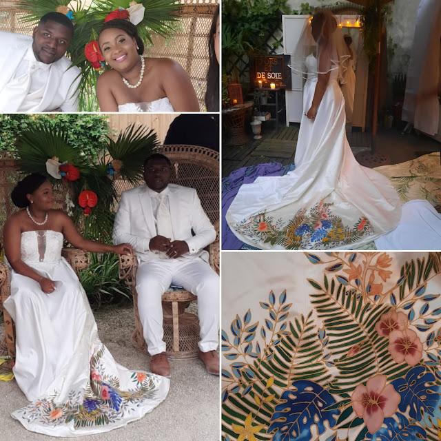 Robe de mariée customisée D'Ors et de Soie