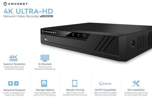 Amcrest 4K NV4116-HS 16CH 720P/1080P Video Recorder