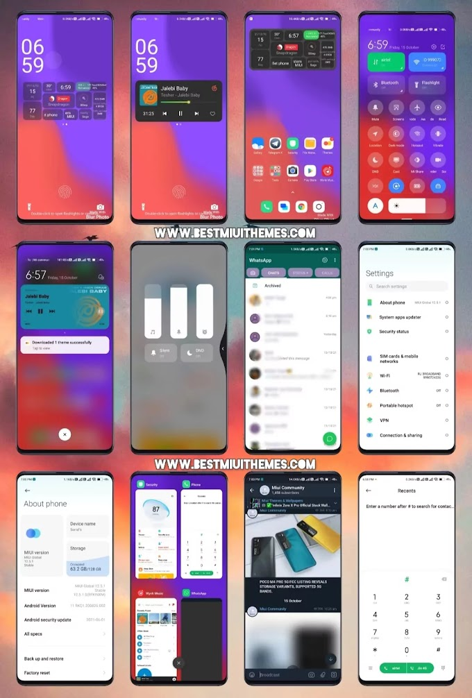 D 1 Miui 12 Theme download || Best Miui 12 Themes Download || Xiaomi Themes