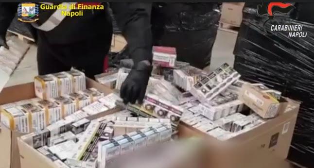 Oltre 27 tonnellate di sigarette di contrabbando: provvedimenti cautelari per 17 persone
