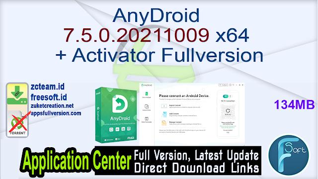 AnyDroid 7.5.0.20211009 x64 + Activator Fullversion