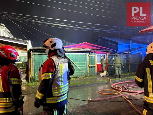 Dos personas fallecidas tras incendio en Puerto Montt