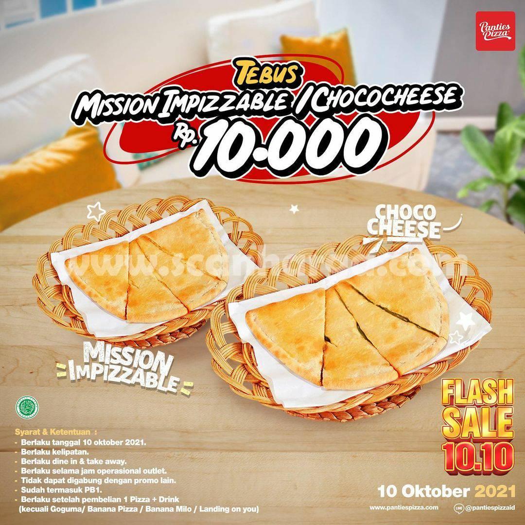 Promo Panties Pizza Flash Sale 10.10 - Pizza Favorit cuma Rp. 10.000