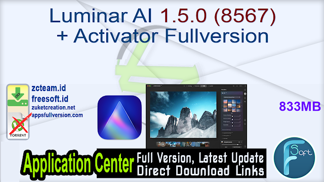 Luminar AI 1.5.0 (8567) + Activator Fullversion
