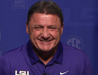 Picture of American football coach, Ed Orgeron